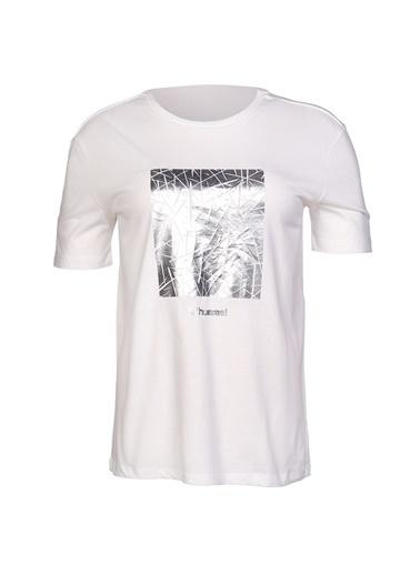 Hummel Kadın Tişört Calvina 910964-9003 Beyaz